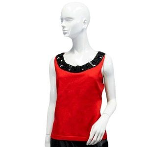 Tops - Ruby Cut Diamond Embroidered Top Size L